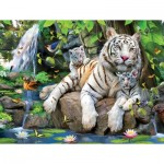Puzzle   XXL Teile - White Tigers of Bengal