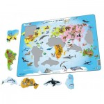 Larsen-A34-GB Rahmenpuzzle - Animals of the World