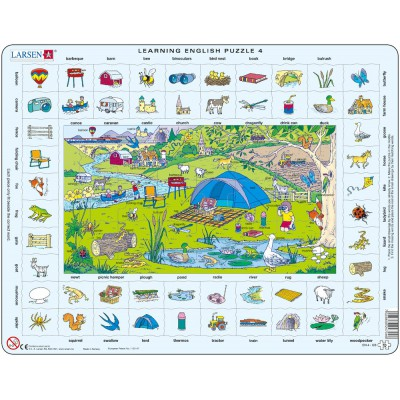 Larsen-EN4-GB Rahmenpuzzle - Learning English 4: Im Urlaub