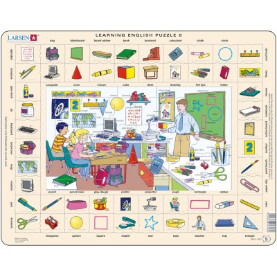 Larsen-EN6-GB Rahmenpuzzle - Learning English 6: In der Schule