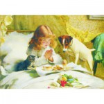 Puzzle  Gold-Puzzle-60706 Charles Burton Barber: In Erwartung