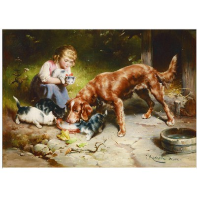 Puzzle Gold-Puzzle-60713 Carl Reichert: Dinnerparty