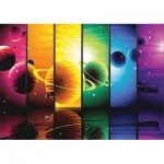 Puzzle  Gold-Puzzle-61444 Planets Illustration