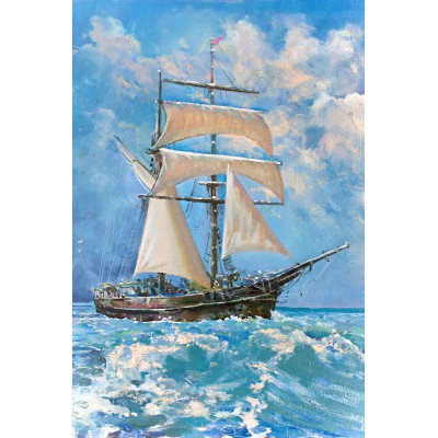 Puzzle Gold-Puzzle-61475 Sailboat in the Ocean