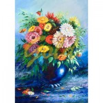 Puzzle  Gold-Puzzle-61482 Flowers in Blue Vase