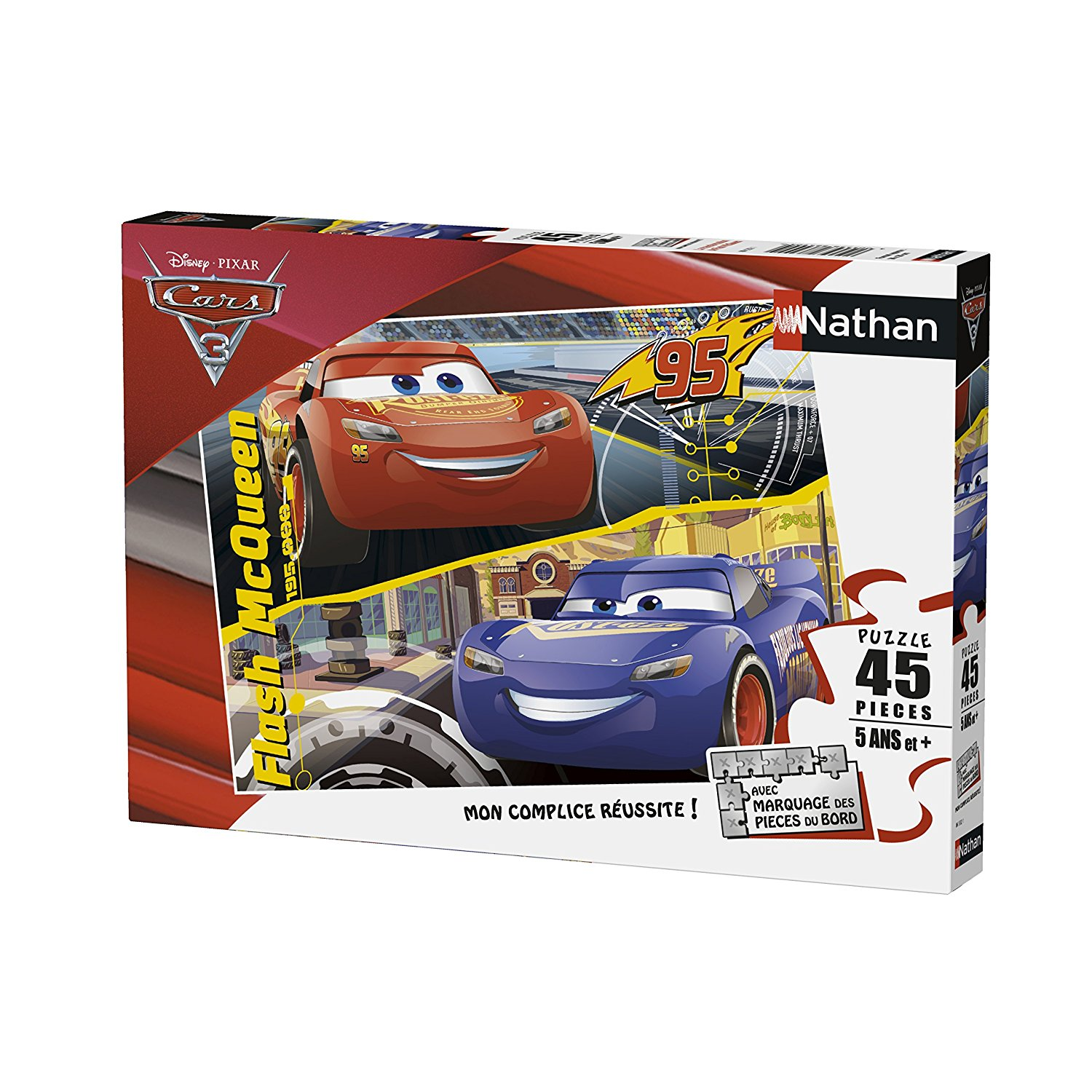 cars 3 flash mcqueen 45 teile nathan puzzle online kaufen. Black Bedroom Furniture Sets. Home Design Ideas