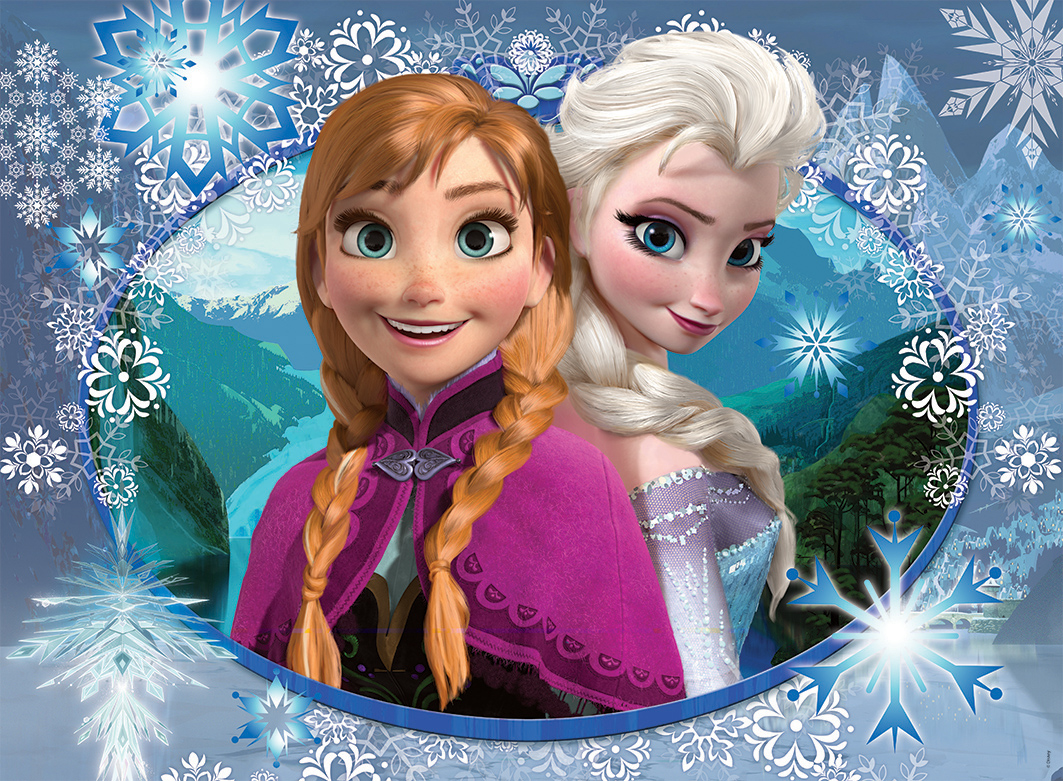frozen anna und elsa 150 teile nathan puzzle online kaufen. Black Bedroom Furniture Sets. Home Design Ideas