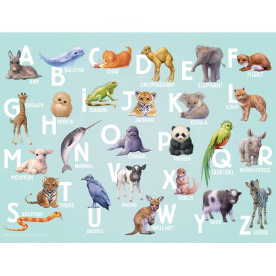 Puzzle Nathan-86318 ABC Tiere