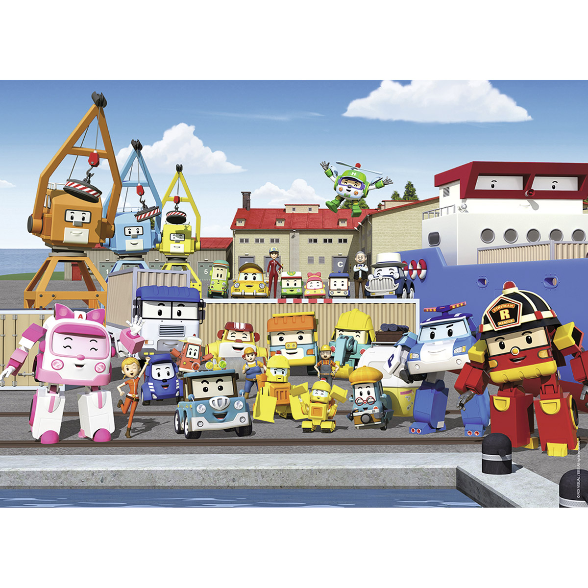 robocar poli 45 teile nathan puzzle online kaufen. Black Bedroom Furniture Sets. Home Design Ideas