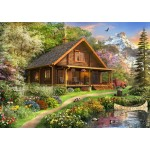 Puzzle   A Log Cabin Somewhere in North America
