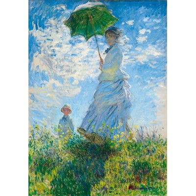 Puzzle Art-by-Bluebird-60039 Claude Monet - Woman with a Parasol - Madame Monet and Her Son
