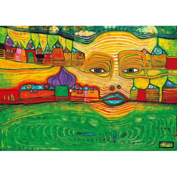 Hundertwasser - Irinaland over the Balkans, 1969
