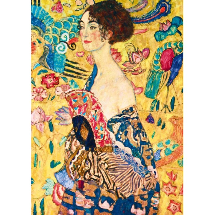 Gustave Klimt - Lady with Fan, 1918