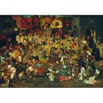 Puzzle  Art-by-Bluebird-Puzzle-60125 Pieter Bruegel the Elder - The Fight Between Carnival and Lent, 1559
