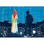 Puzzle  Art-by-Bluebird-Puzzle-60129 Edvard Munch - Two People: The Lonely Ones, 1899