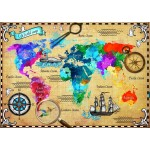 Puzzle  Bluebird-Puzzle-70001 Colorful World Map