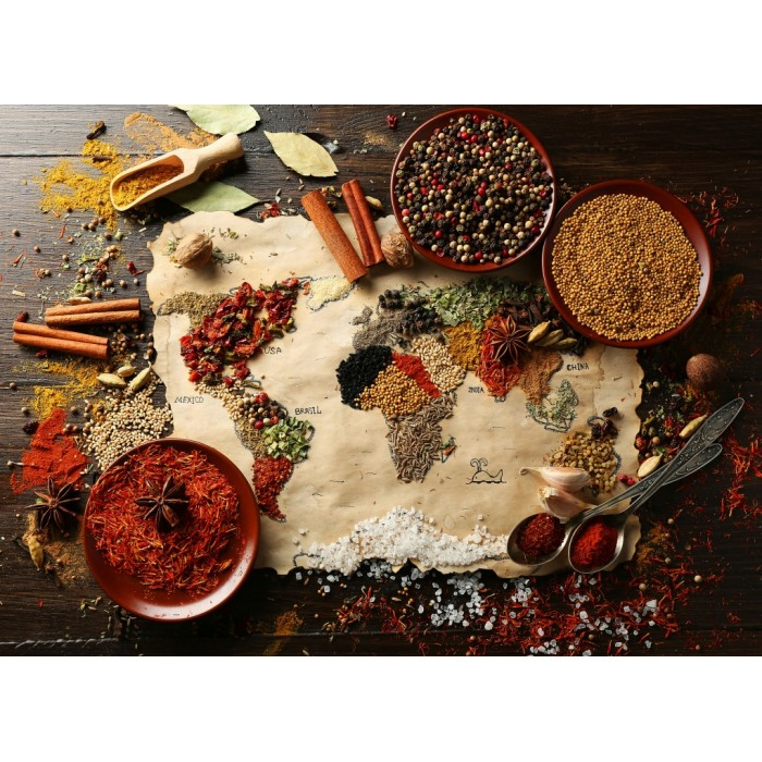 World Map in Spices