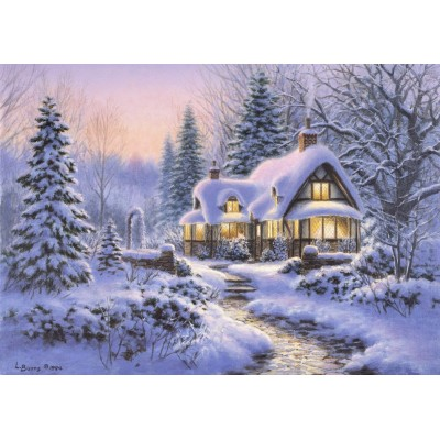 Puzzle Bluebird-Puzzle-70066 Winter's Blanket Wouldbie Cottage