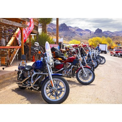 Puzzle Bluebird-Puzzle-70067 Rt 66 Fun Run Oatman Motorcycles 4-16 8377