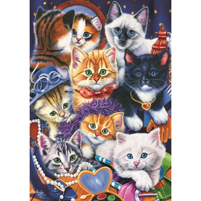 Puzzle Bluebird-Puzzle-70087 Kittens In Closet
