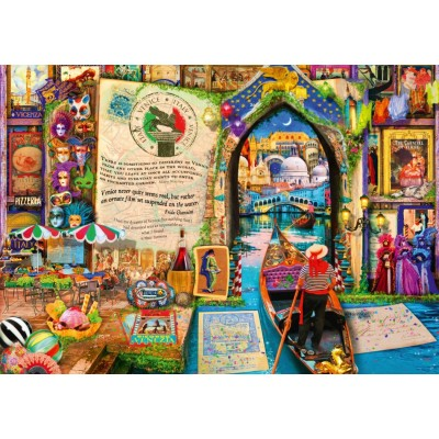 Puzzle Bluebird-Puzzle-70259-P Life is an Open Book Venice