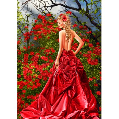 Puzzle Bluebird-Puzzle-70276 Tais in Red