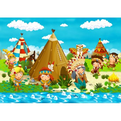 Puzzle Bluebird-Puzzle-70361 Small Indian Tribe