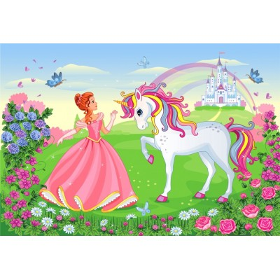 Puzzle Bluebird-Puzzle-70376 The Princess and the Unicorn