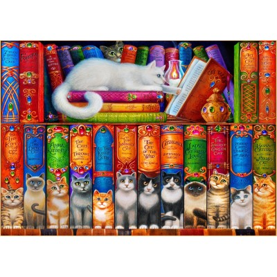 Puzzle Bluebird-Puzzle-70396 Cat Bookshelf