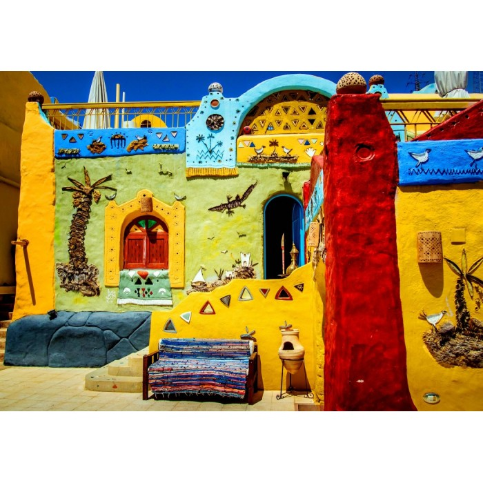 Colorful African Village
