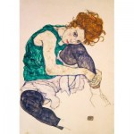 Puzzle   Egon Schiele - Seated Woman with Legs Drawn Up, 1917
