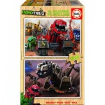 2 Holzpuzzles - Dreamworks - Dinotrux