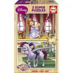 2 Holzpuzzles - Sofia the First
