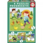 4 Puzzles - Farm Animals