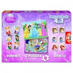 Educa-13702 Superpack Princesses Disney: 4 in 1, 2 Puzzles, 1 Memory, 1 Domino