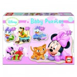 Educa-15612 Puzzle progressiv - 5 Baby Puzzle: Disney: Minnie