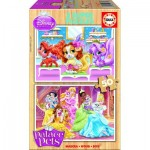 Educa-16371 2 Holzpuzzles - Palace Pets