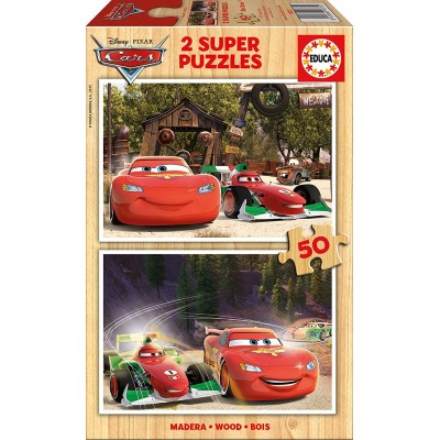 Educa-16372 Holzpuzzle - Cars