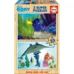 Educa-16694 2 Holzpuzzles - Finding Dory