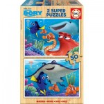 Educa-16695 2 Holzpuzzles - Finding Dory