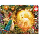 Puzzle  Educa-16750 Peacock Feather Fairy