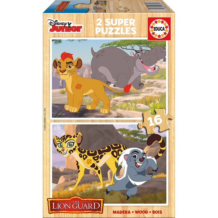 2 Holzpuzzles - The Lion Guard