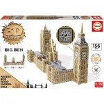 Educa-16971 3D Holzpuzzle - Big Ben & Parliament
