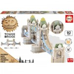 Educa-16999 3D Holzpuzzle - Tower Bridge