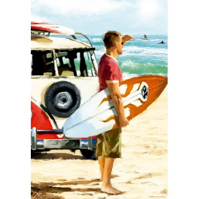 Puzzle Educa-17084 Richard Macneil: Surfer