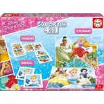 Puzzle  Educa-17198 Superpack 4 in 1 - Disney Princess