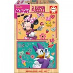 Educa-17623 2 Holzpuzzles - Minnie