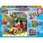 Educa-17629 4 Puzzles - Mickey and the Roadster Racers