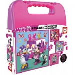 Educa-17638 4 Puzzles - Minnie