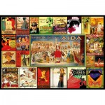 Puzzle  Educa-17676 Opern-Collage